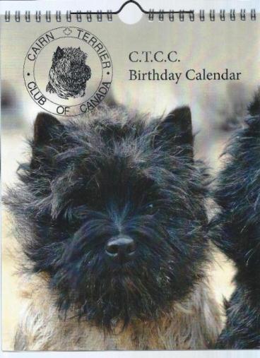 Cairn Terrier Calendar